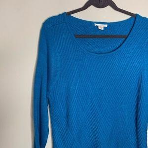 Westbound l Blue Knit Pattern Sweater
